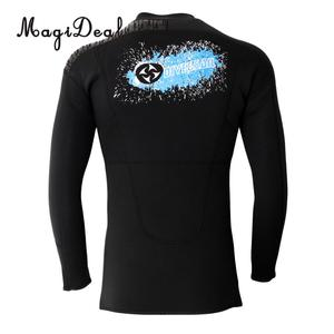 Image 3 - Phenovo 3MM Warm Neoprene Long Sleeve Wetsuit for Men Front Zipper Jacket Top Surf Scuba Diving Swimming Snorkeling Surfing Top