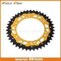 50T CNC Rear Chain Sprocket Steel and Aluminum RM125 RMZ250 RM250 RMZ450 RMX250 Motocross Supermoto Enduro Dirt Bike Racing