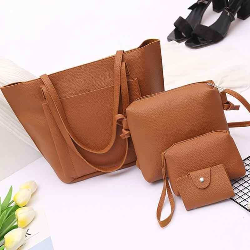 a85c6b7924889 Fashion Women Shoulder Bags Female Crossbody Bags High Capacity 4 Pcs/Set  Ladies Shopping Bags