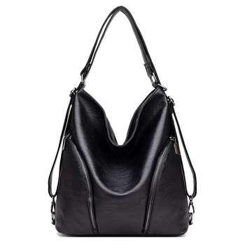 9a0039fa8baf Модный бренд Для женщин сумки Большая Повседневная сумка через плечо из  мягкой искусственной кожи высокое качество кожаные сумки для дамы .