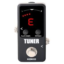 KOKKO Electric Guitar Tuner Effects Mini Pedal Guitarra tuning for Guitar Bass Violin Ukelele Effect Device Accessories FTN-2 kokko kw 1 guitarra pedal high quality guitar accessories vol wah guitar pedal for guitar lovers