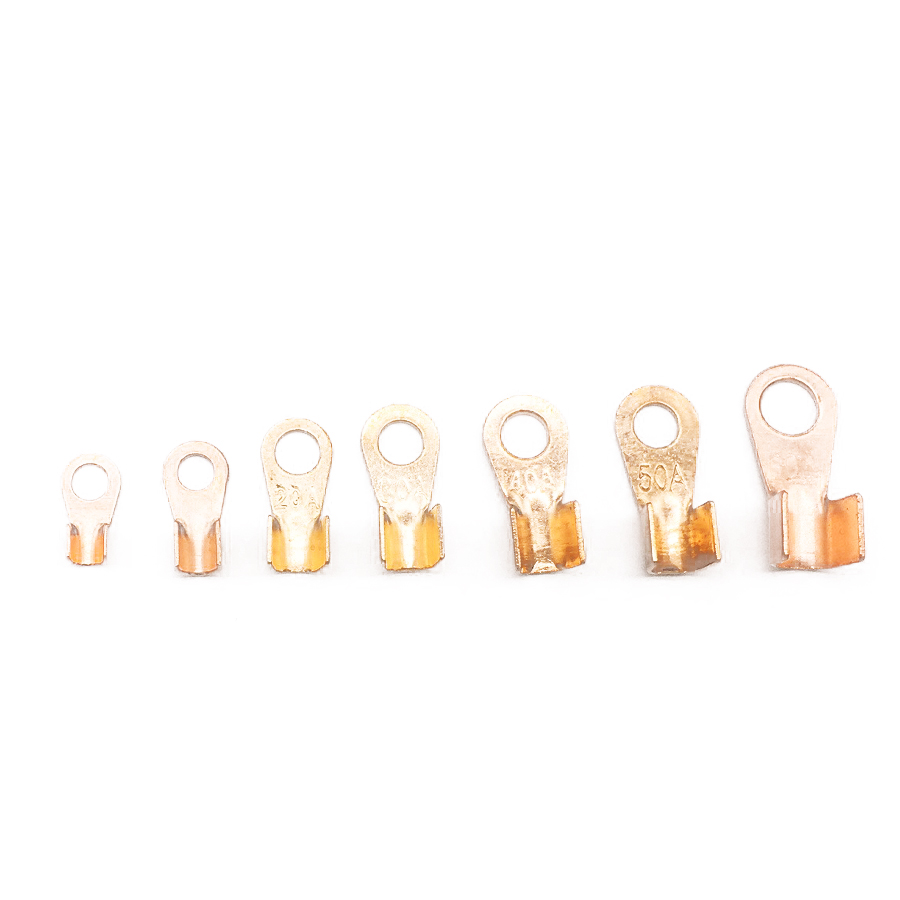 180pcs Wire Cable Connectors Terminals Open Ring Quick Splice Electrical Audio 5 10 20 30 40 50 60A 60pcs Heat shrinkable tube in Hoses Clamps from Automobiles Motorcycles