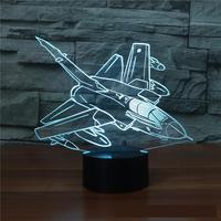 Aircraft  Remote Control 3d Lamp Multi color Touch Led Visual Led Night Light Atmosphere Table Led Usb 3d Light Fixtures