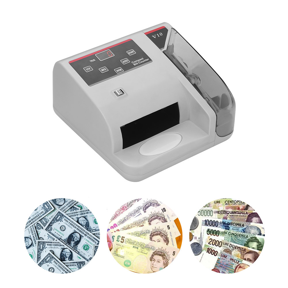 Portable Mini Money Detector UV MG WM Bill Counter for Most Currency Note Bill Cash Counting