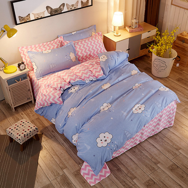 free 3D Digital Printed Bedding Set Duvet Cover Design Bedclothes Home Textiles Bed Sheet Pillowcases Cover Set 2/3/4pcs be1350