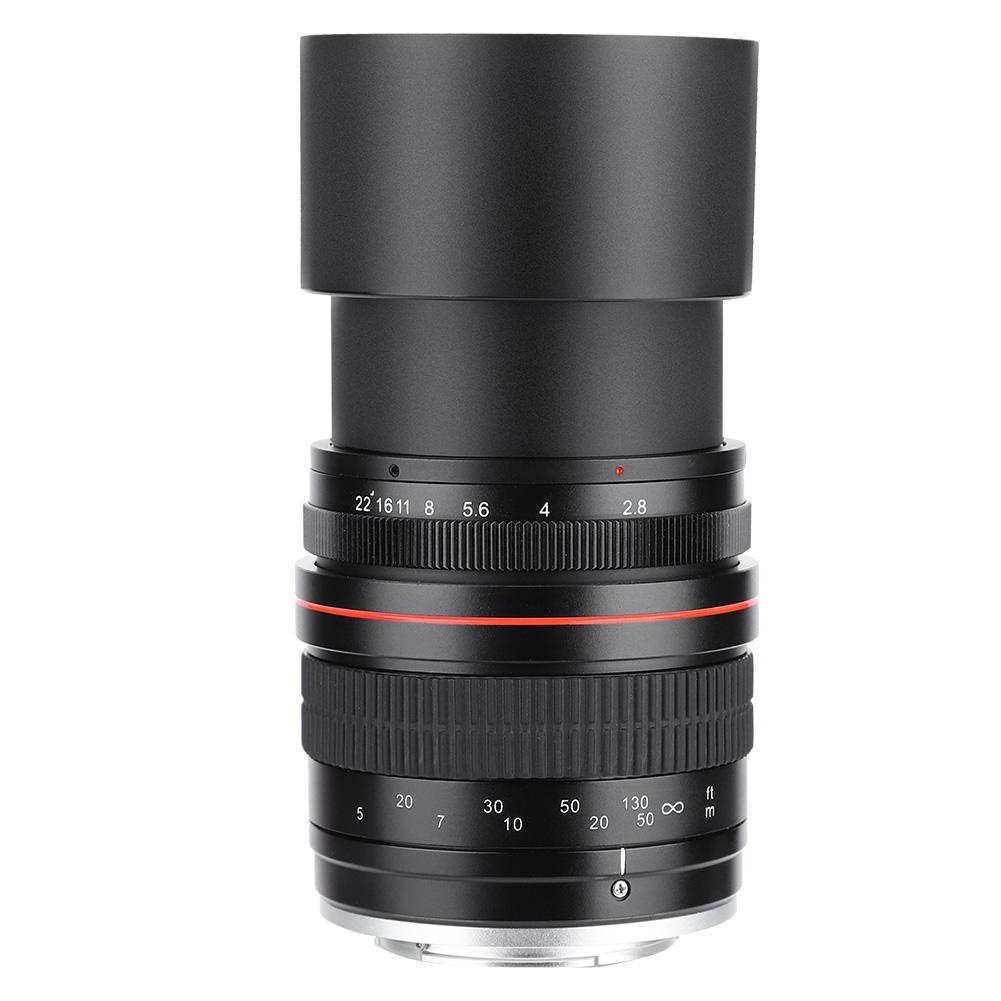135 мм F2.8 DSLR Полнокадровый телеобъектив Большая диафрагма ручная фиксированная фокусировка объектив для камеры Canon EF, для объектива камеры ...