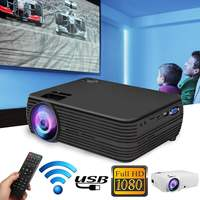 Mini Projector 7000 Lumens 1080P FHD Wifi bluetooth Home Theater Android 6.0 X5 Audio Speaker Home Theater Cinema
