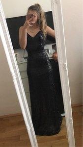 Image 5 - Seksowne sukienki na bal długi 2020 tanie głębokie dekolt bez rękawów Spaghetti pasek cekinami Sparkle Mermaid Prom Dresses Vestido De Festa