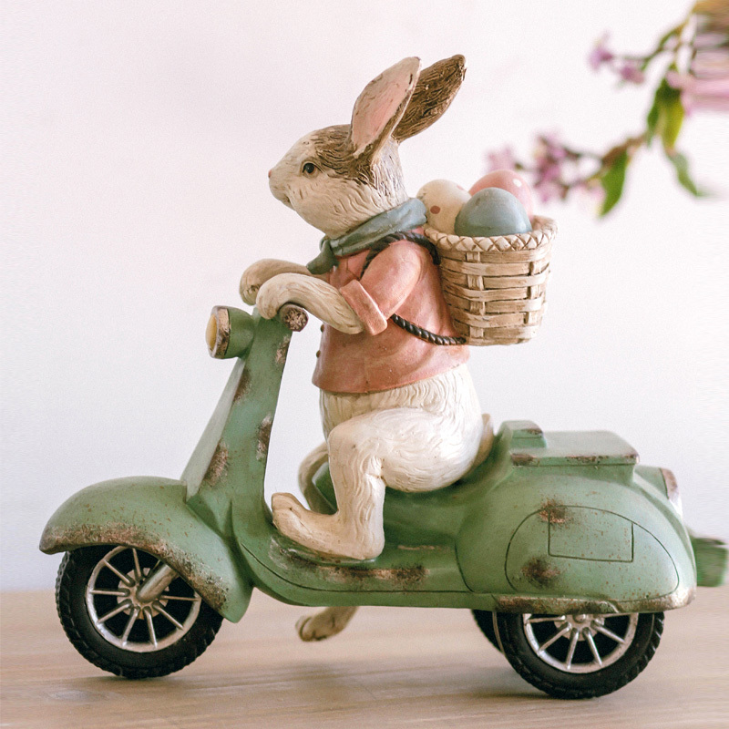 Rabbit Motorcycle Annie Rabbit Goods Furniture Display Rather Than Use Originality Living Room Ornament Resin