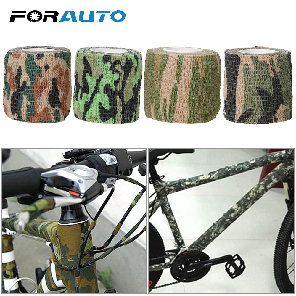 FORAUTO <font><b>Camouflage</b></font> Tape Car <font><b>Stickers</b></font> Retractable For <font><b>Bike</b></font> Bicycle Hunting Riding Self-Adhesive Car styling Non-Woven image