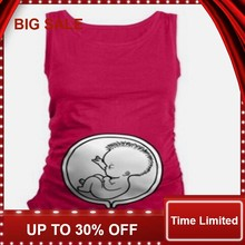 Summer Womens Sleeveless Soft Cotton Cute Baby Pregnancy Maternity Clothes Funny Pregnant T Shirt Tee Tops Plus Size Camiseta(China)