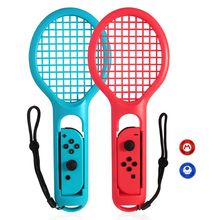 1 Pair For Nintend Switch Joy-con ABS Tennis Racket Handle Holder for Nintendo Switch NS Tennis ACES Game Player with 2 Analog glue controller dispensing machine handle switch with metal 1 1 cartridge holder