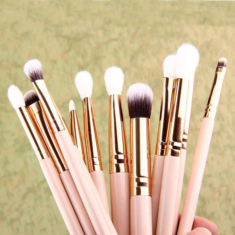 12 stks/set Make-Up Kwasten Set Poeder Foundation Oogschaduw Eyeliner Lip Brush Tool