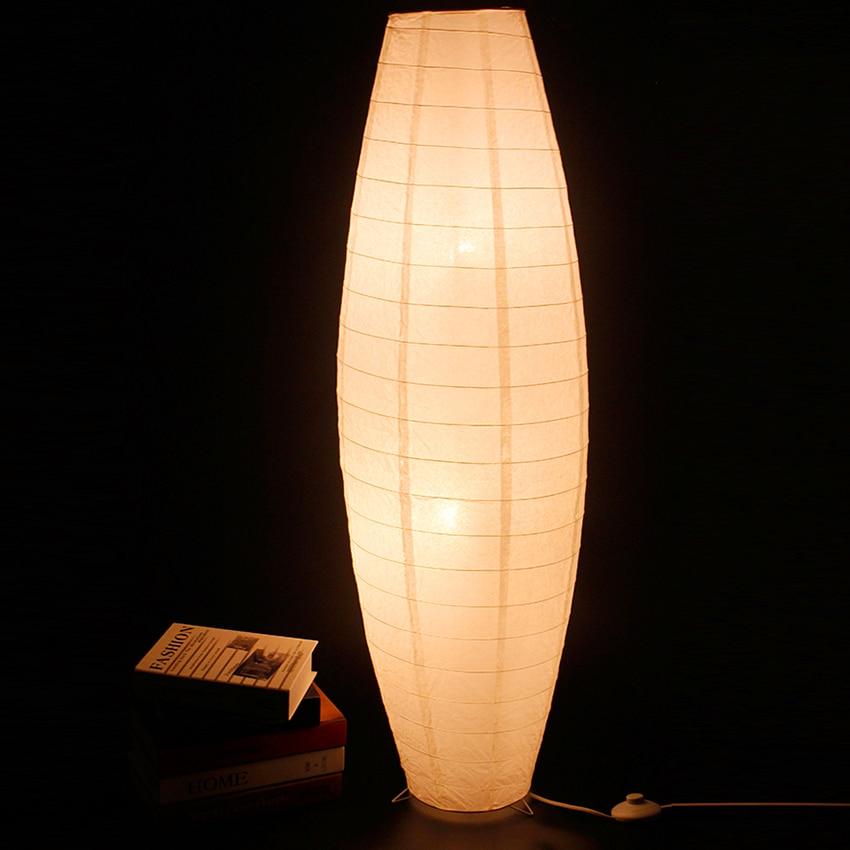 huge selection of 559c5 a7eb5 US $52.68 21% OFF|Modern White LED Floor Lamp Hand Woven Paper Floor Light  Bedroom Standing Lamp Living Room Indoor Lighting Standing Lamp Lustres-in  ...