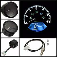 112K RPM LCD Digital Odometer Speedometer Multifunction With night vision dial for 2,4 Cylinders and six gear Motorcycle