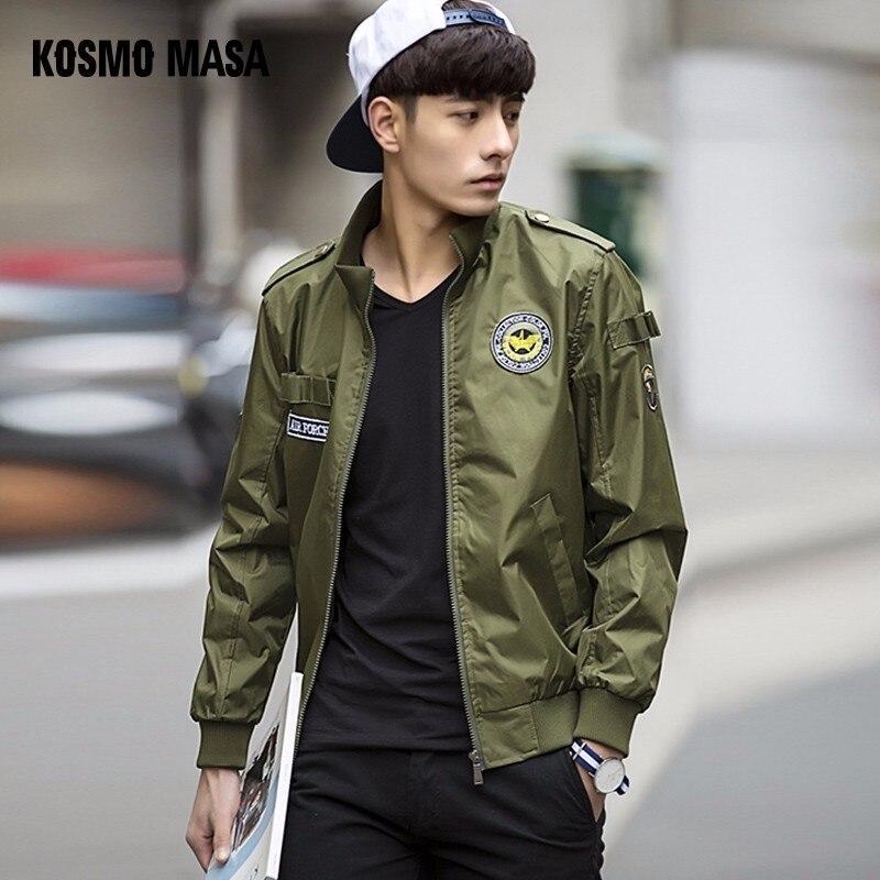 KOSMO MASA Bomber Veste Hommes Automne Hiver Militaire Mens Vestes Et Manteaux Casual Coupe-Vent Veste pour les Hommes outwear MJ0073