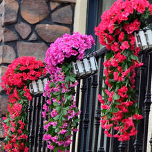 Красочные искусственные шелковые фиолетовые плюща Висячие Цветы для гирлянды настенные Висячие растения Свадебная вечеринка домашний сад балкон украшения