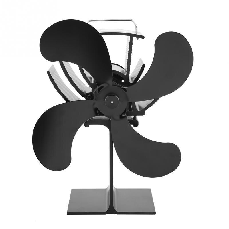 New Style 4 Lâminas Lareira ventilador de calor De Calor Alimentado Burner Forno Fogão Fã Ventilador de Aquecimento Superior para Toros de Madeira Eco amigável Poupança