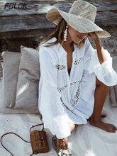 Женский купальник накидки кафтан с рукавами мандаринами Пляжная