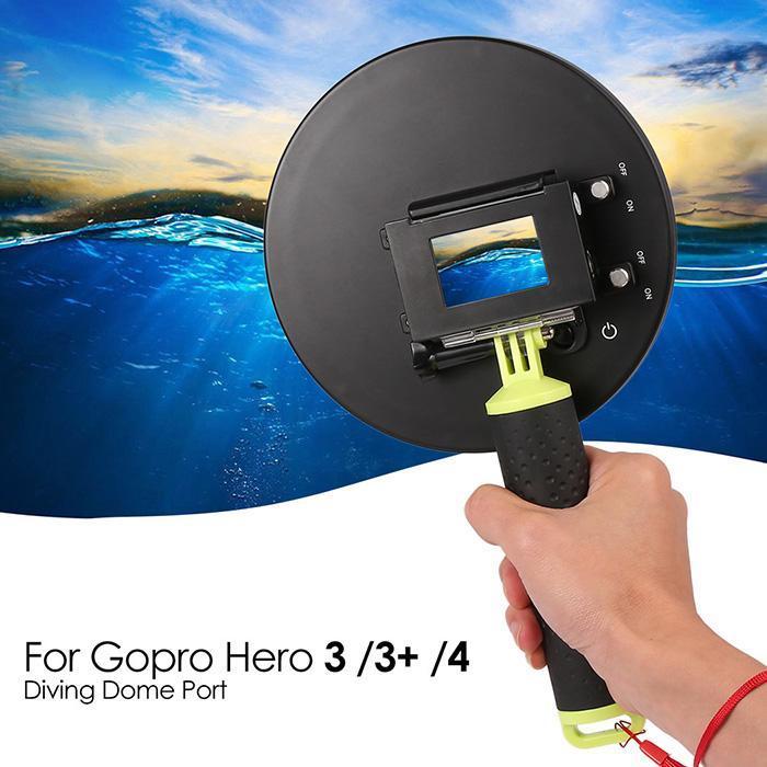 Dôme Port couverture pare-soleil boîtier étanche gachette poignée dôme pour GoPro Hero 4 3 3 + piscine adaptée Ocean Photogra