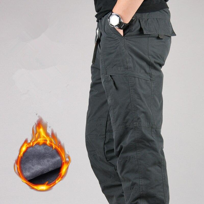 Men/'s Winter Thicken Warm Thermals Cargo Pants Outdoor Overalls Work Trouser NEW