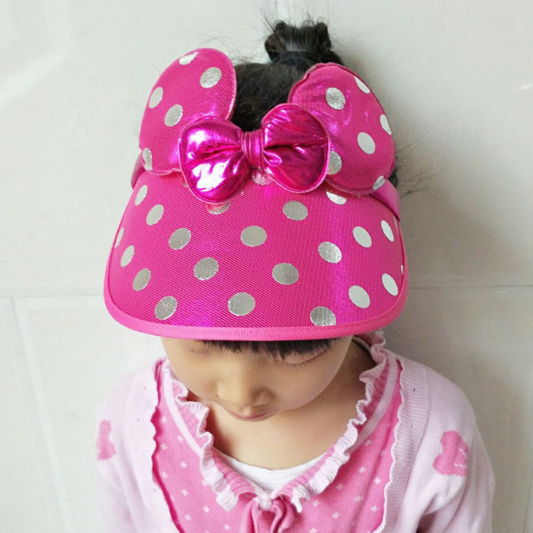 24434783d99 Detail Feedback Questions about Children s Beach Hat Girls Cute Mickey Ears  Empty Top Summer Bowknot Hat Kids Folding Sunshade Cap Baby Sun Hat For 1  To 8 ...