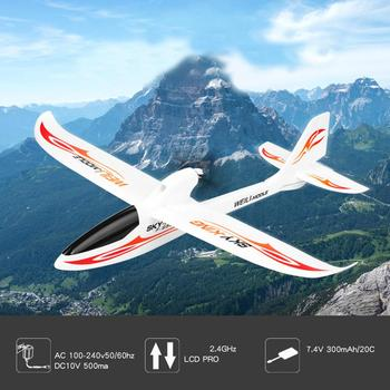 Wltoys F959 2.4G 3CH 750mm Remote Fixed Wing Glider Three-Channel Backward Pusher Glider Remote Control Aircraft