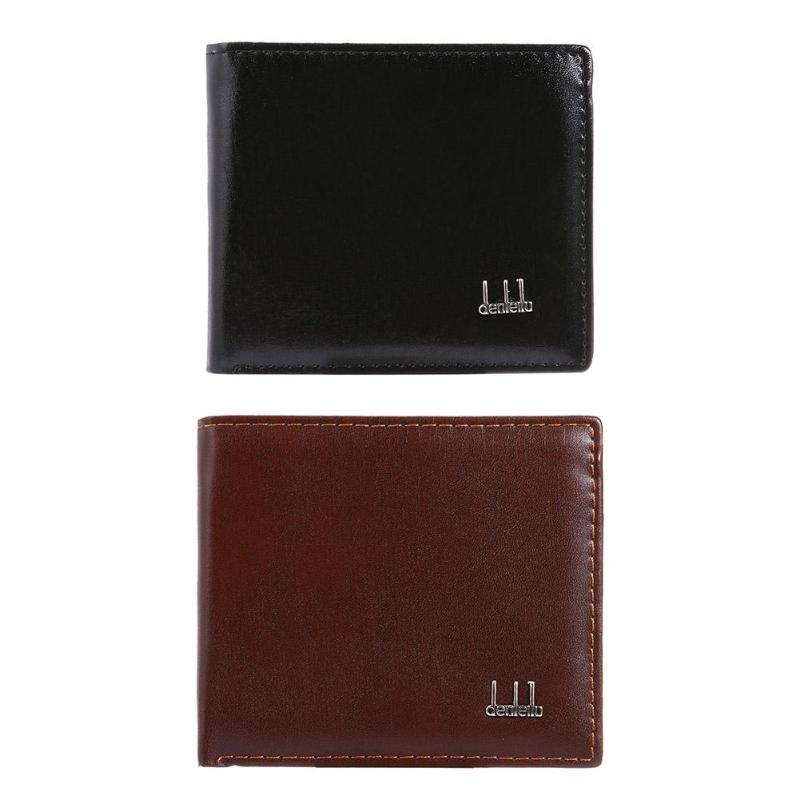 Fashion Men Short Wallets Simple Thin Business PU Generous Coin Purse Flap Money Bags Vintage Cards Bag Decent Handbags Portfel