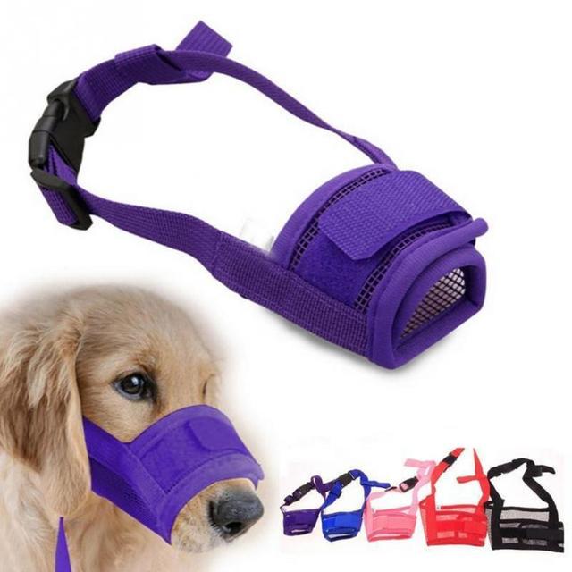 Anti-morso di Cane di Nylon Traspirante Anti-batteriche Pet Riutilizzabile Magli