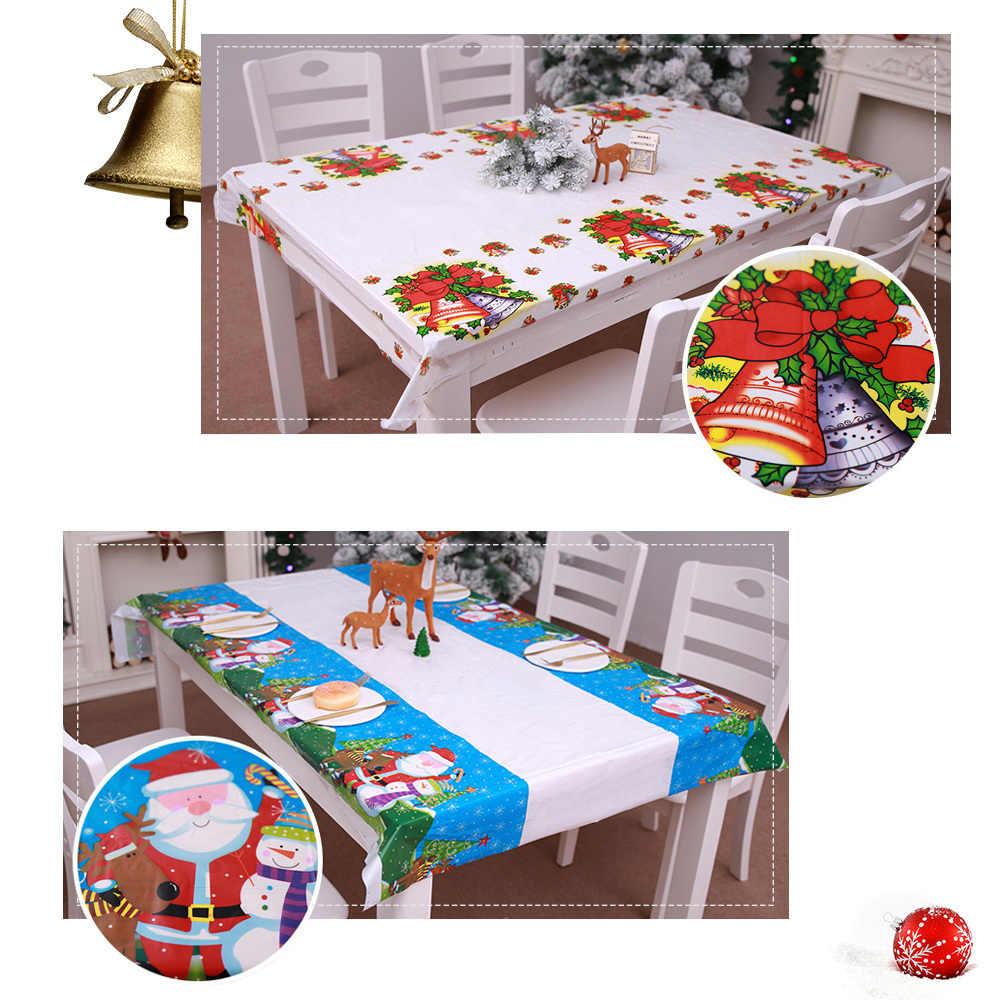 1 1*1 8 м Рождественская прямоугольная скатерть с принтом одноразовая водостойкая