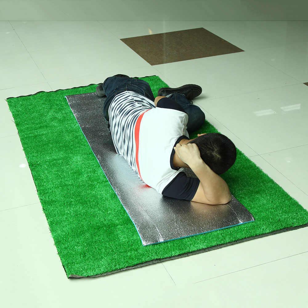180 × 50/60 × 1 см пенопласт эва однобоковая алюминиевая фольга влагостойкий коврик для йоги открытый пляж Кемпинг Туризм Путешествия пикника спальный коврик