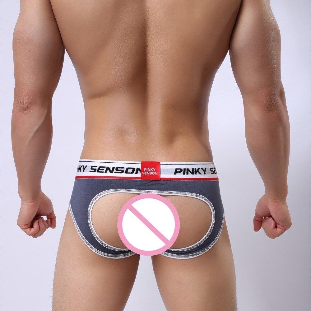Pinky Senson Modal Underwear Briefs Ac Design Sexy Gay Assless Homosexual Love Shorts Sleepwear Man Pants Sweet Lovers