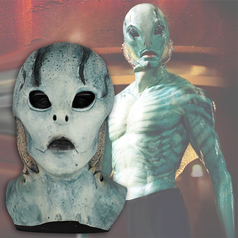 Movie Hellboy 3 abe sapien Mask Anung Un Rama  Cosplay B.P.R.D. Helmet Fish Face Masks Funny Halloween Party Props