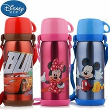 Disney Cartoon New Stainless Steel Kettle Cup 600ml Children Portable Thermal Insulation Cup