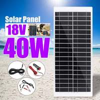 Kinco 40W 18V Solar Panel Waterproof USB Monocrystalline Solar Panel with Car Charger for Outdoor Camping Emergency Light