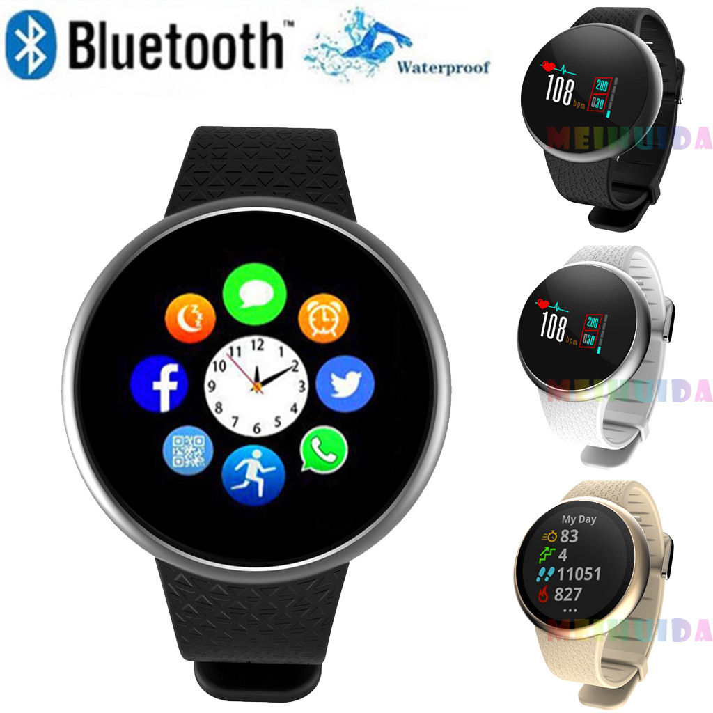 $26.39 | New Fashion Unisex Waterproof Smart Watch Bluetooth Heart Rate Monitor Bracelet Digital Wristband for iPhone Samsung iOS Android