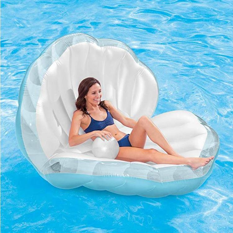 Kidlove Inflatable Seashell Pool Float Floating Swimming Ring Giant Inflatable Shell With Pearl Swimming Tool For Child Adult