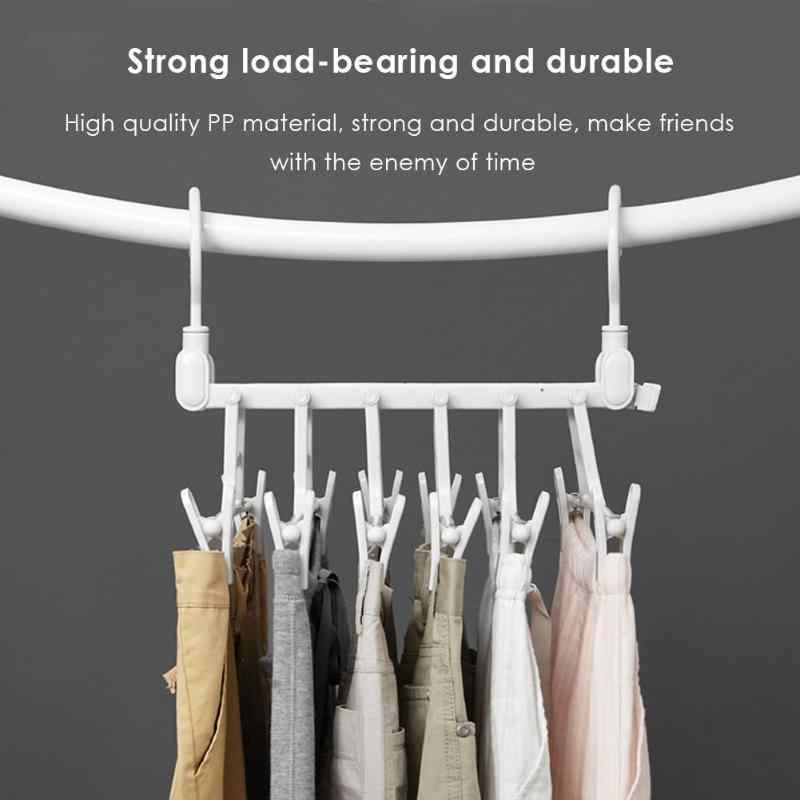 Творческий Экономия пространства вешалка для одежды органайзер для шкафа, гардероба вешалка для одежды с крюком шкаф, органайзер для хранения стеллаж для выставки товаров