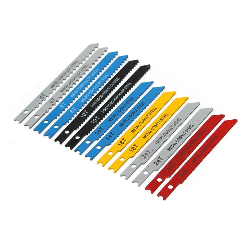 25% Hot Sale 14pcs U Fitting Jigsaw Blades Set Metal Plastic Wood Jig Saw Tool High Quality