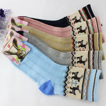 One Pairs Children Boy Short Socks 5-9 Years Cartoon Deer Cotton Mesh Socks For Kids Boys 1