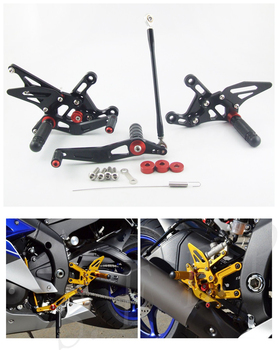 CNC Adjustable Rearsets Foot Pegs Rear Set For Yamaha YZF R1 2009-2010-2011-2012-2013-2014