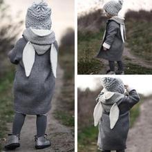 Winter Cute Newborn Baby Jackets Hooded Coat Rabbit Ears Fas