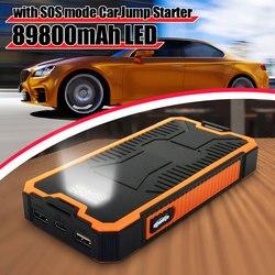 2a carregador rápido carro ir para iniciantes fonte de alimentação 89800 mah bateria impulsionador usb power bank 9 v dupla saída usb com display