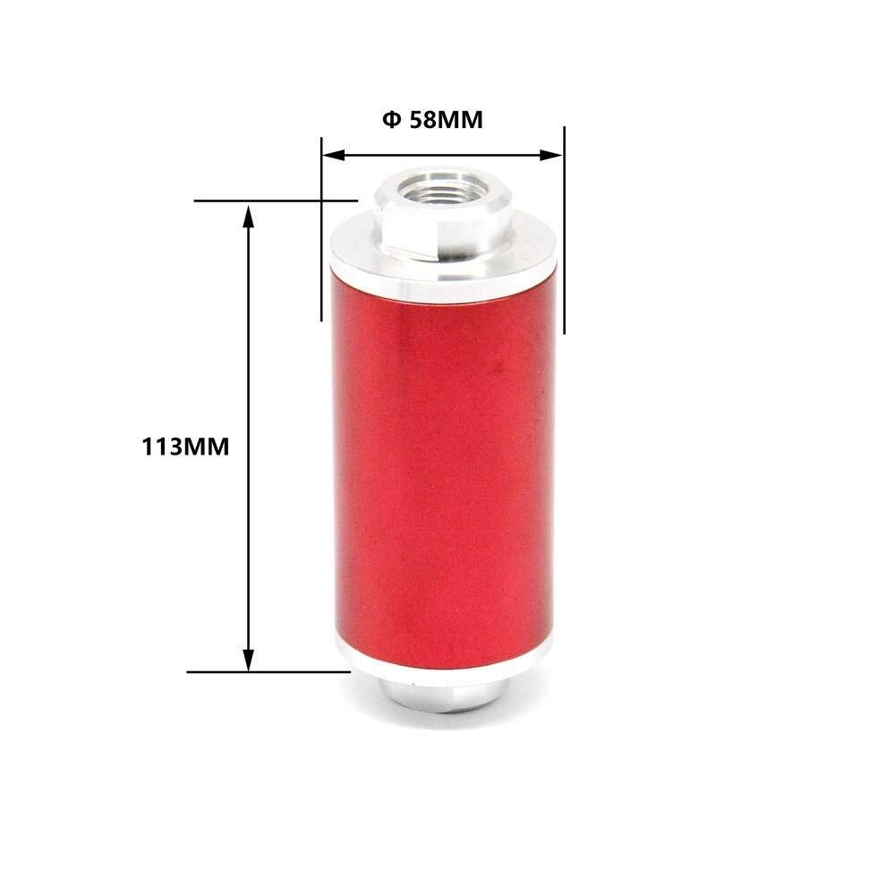 Tasan Racing universel 58 MM filtre à carburant en ligne/filtre à huile haut débit 100 microns nettoyables AN6 AN8 AN10 adaptateurs - 2