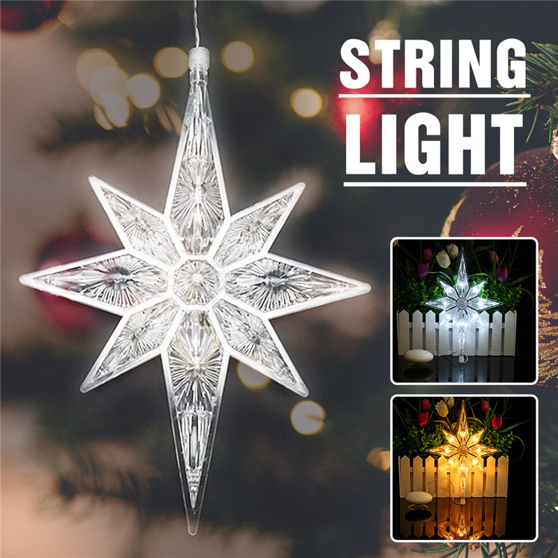 8LED DC4.5V Suction Cup Light Holiday Window Christmas Decoration Lights Transparent Pure/Warm White