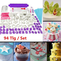 94pcs Cookie Cutter Biscuit Stamp Cake Mold Maker DIY Pastry Baking Plunger Tool Dough Roller Pin Full Set Cake Decorating Tools