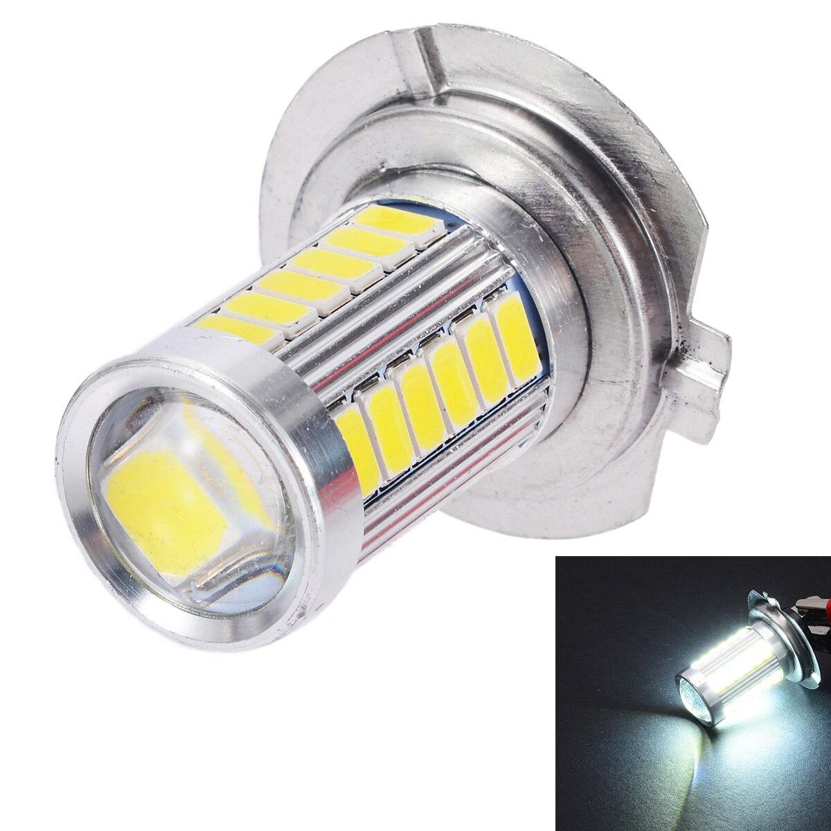 1pcs Car H7 LED 5630 33SMD LED Fog Lamp Head Light 12V 6500K White Auto Car Signal Lamp LED Bulb