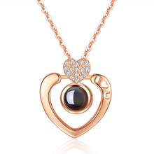 Heart Gemstone Necklace Ruby Bizuteria 925 Sterling Silver Chain Necklaces Pendants Rhinestone Choker Necklaces Collier Femme aglover necklace 2018 short 925 silver chain crystal choker necklaces