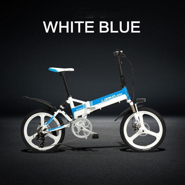 Vélo électrique pliant deux roues vélo électrique 20 pouces 48V 240W moteur léger en alliage daluminium portable vélo électrique