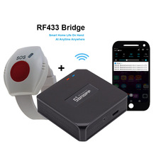 WIFI SOS Button for Elderly RF 433mhz Panic Button Emergency Alarm Wirelss Watch Bracelet Old People Android IOS APP